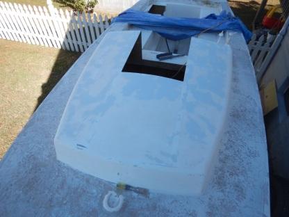 Cabin top sanded